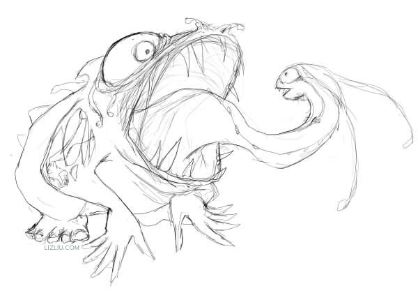 Frog Sketch Drawing Frog Sketch
